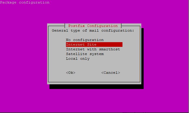 Mail server configuration